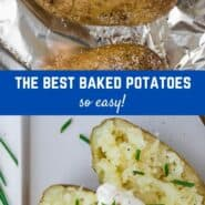 Wondering how to make baked potatoes with a crispy brown exterior and fluffy white interior? Enjoy perfectly baked potatoes as a filling main dish, or versatile side dish.