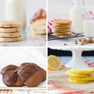 Collage of four images of slice and bake cookies.