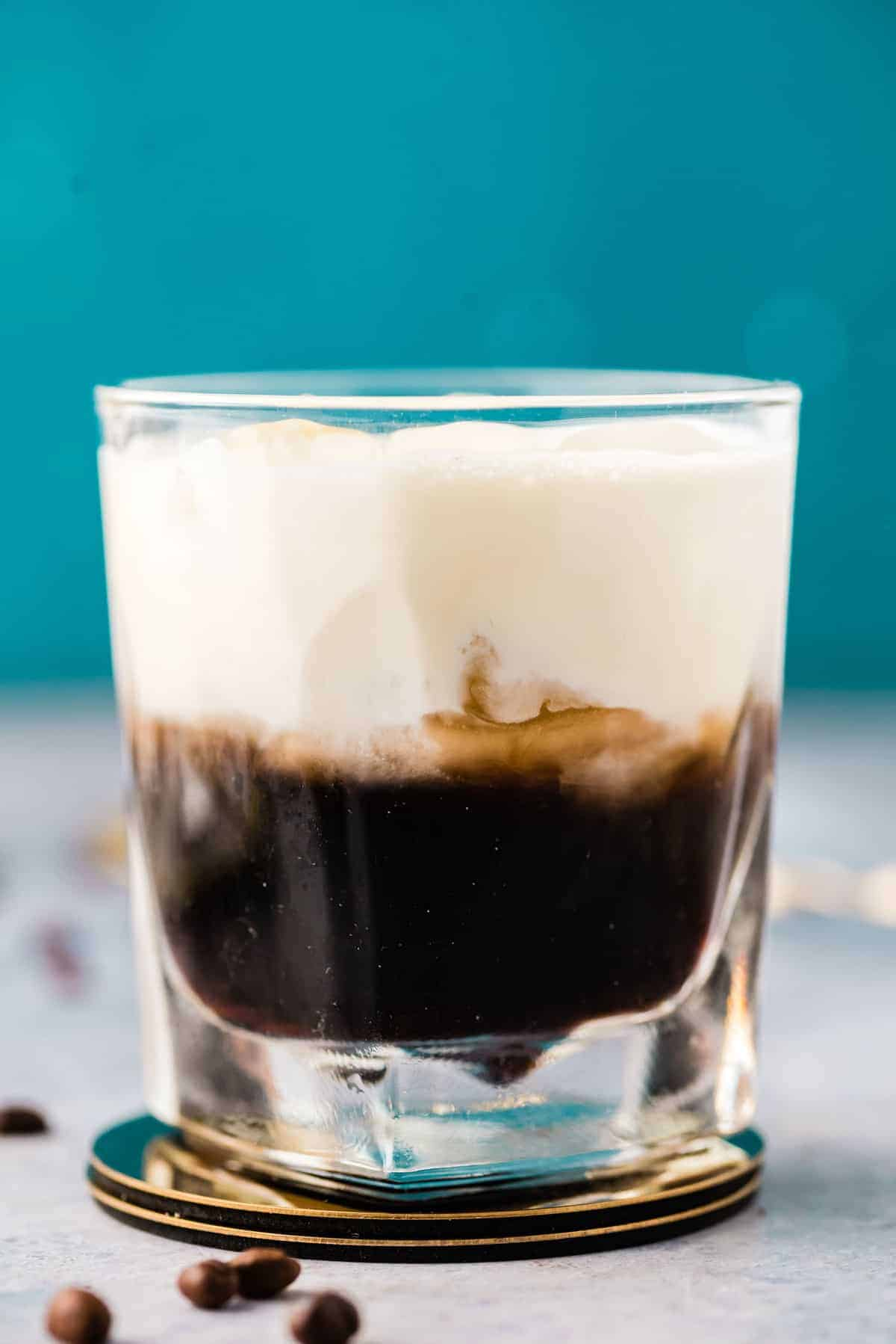 White Russian, separated to show the layers.