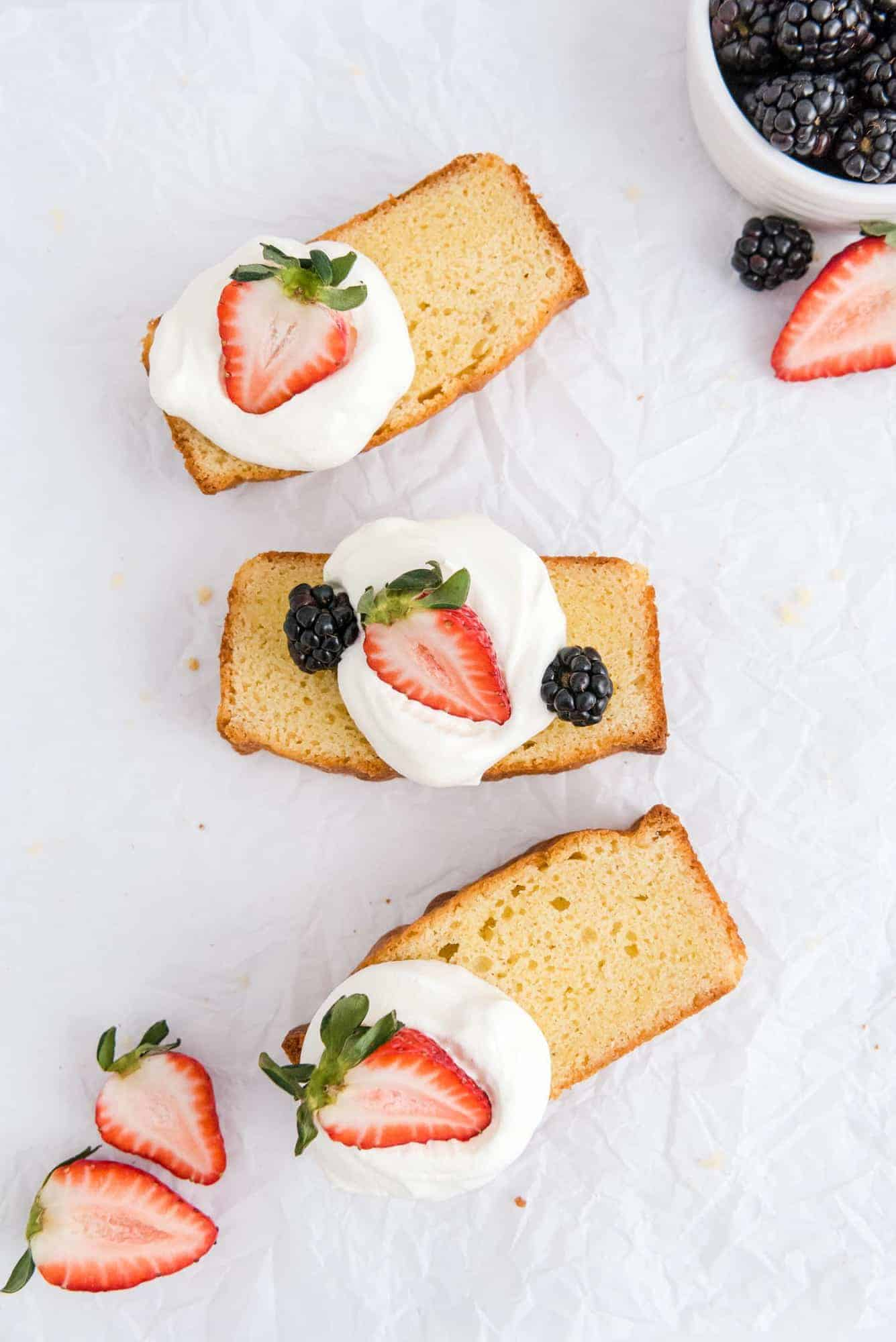 Cake slices on a white background.