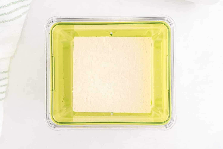 Tofu in liquid